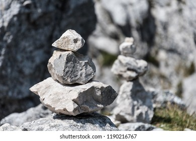 Stones on Kampenwand in Bavaria Alps in Summer