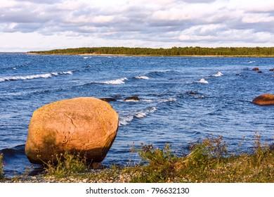 Stones on the shore of the Baltic Sea, Saaremaa, Estonia