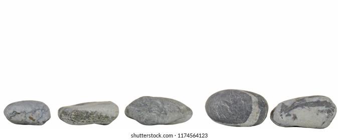Stones on white background.