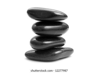 Stones on white background