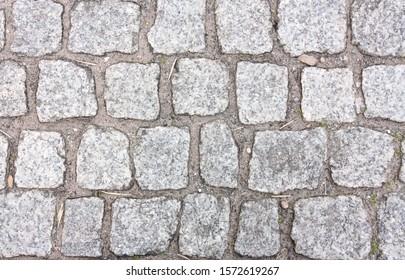 Stones, outdoor sidewalk, grey bricks texture