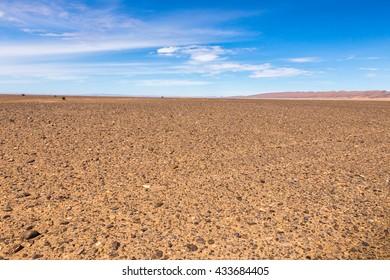 stones in the Sahara desert