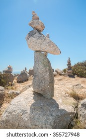 Stones stack at the Monte Foia in Monchique, Portugal