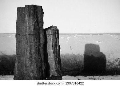 Stones throwing a shadow