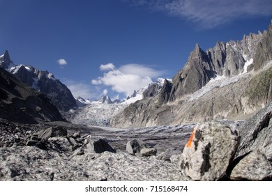 Stones in the Vallee Blanche, French Alps.