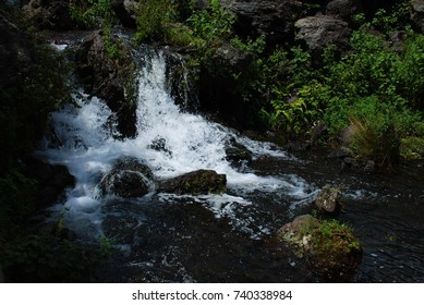 Stones and waterfall