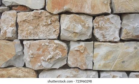 Stones white and yellow texture
