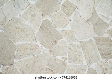 Stonework floor texture, Top view