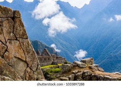 Stonework in Machu Picchu, Peru