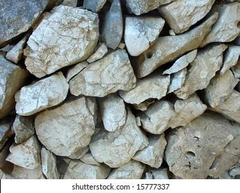 stone-work  wall on brac island, croatia