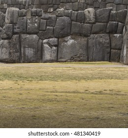 Stonework of the walls of Sacsayhuaman, in Cusco, Peru