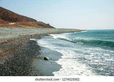 Stony beach in Samothraki