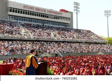 Stony Brook, NY / US - 5 25 2017: Jon Oringer accepts honorary doctorate from Stony Brook University