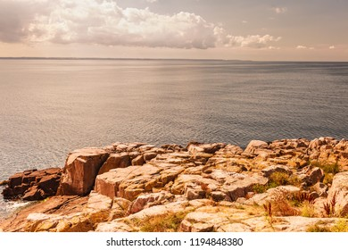 Stony coast at Christianso near Bornholm in the Baltic Sea Denmark Scandinavia Europe.
