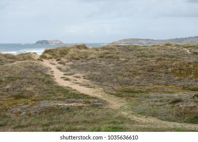 Stony coast at the Coasta del Ferrolterra in Galicia