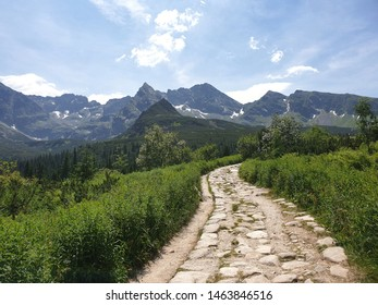Stony path in the mountains