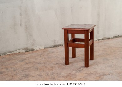 Stool in a newly built house