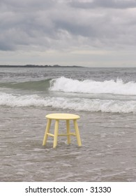 Stool in water