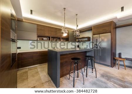 Outstanding Stools Kitchen Bar Kitchen Island Stools Stock Photo Edit Machost Co Dining Chair Design Ideas Machostcouk