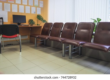 Stools in the waiting room, Russia. Saint-Petersburg. Autumn 2017