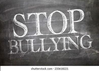 Stop Bullying written on blackboard