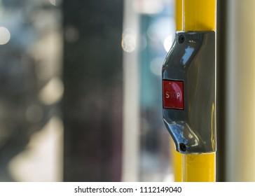 Stop Button of a Public Transporation Bus