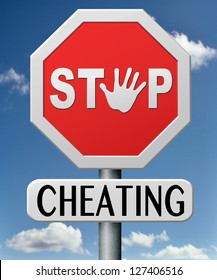 stop cheating and lying being dishonest and deception