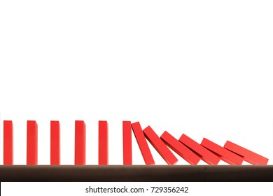 stop a dominoes continuous toppled