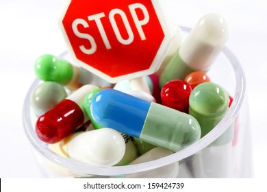 stop and drugs - against addiction and bad habit