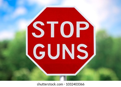 STOP GUNS SIGN