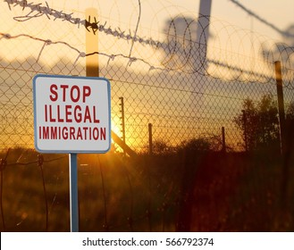 Stop illegal immigration sign