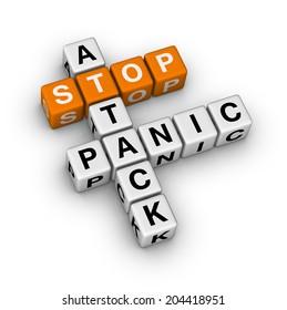 stop panic attack (orange-white crossword puzzles series)