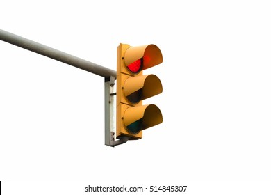 stop red light signal showing isolated