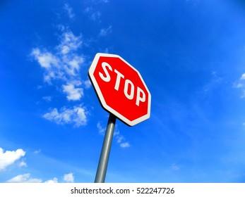 Stop roadsign