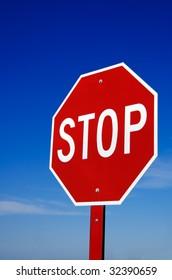 Stop Sign blue sky