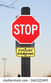 Stop Sign For Cars And Cyclists