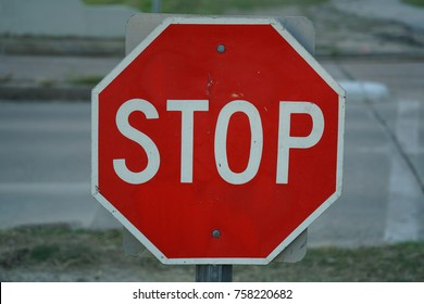 Stop Sign in the City