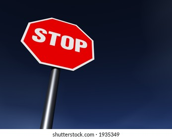 The STOP sign on the clean sunny day. XXL 6000 x 4500 pix
