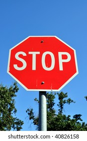 stop sign room for text