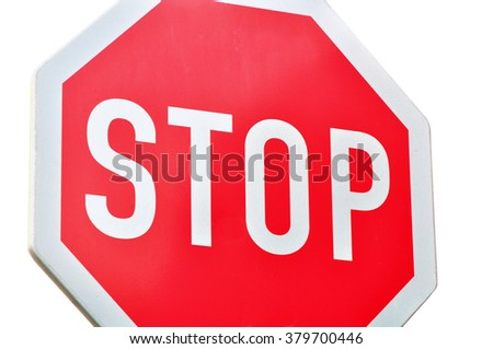 Stop Sign Symbol Text Stock Photo Edit Now 379700446 Shutterstock