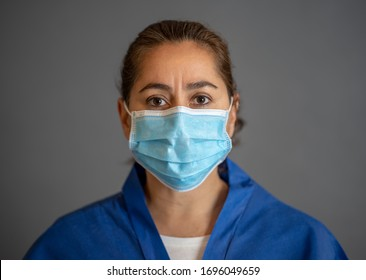 Stop the spread and Save lives campaign. Doctor wearing protection face mask. Protect yourself and others medical advice, basic protective measures against the nobel coronavirus COVID-19 Pandemic.