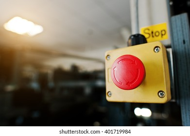 Stop switch in the engine room