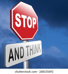 stop think act making wise decision stock photo edit now 270987677