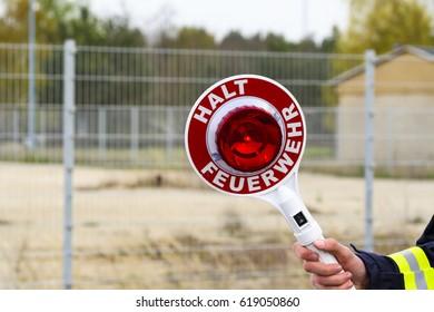 Stop trowel of the fire brigade