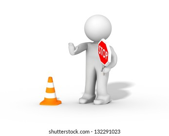 stop, under construction