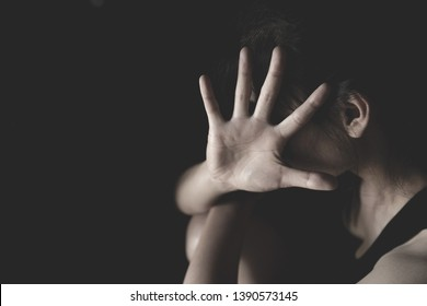 Stop violence against women, Concept of stopping sexual abuse and rape, Domestic Violence and Trafficking