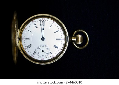 Stop watch with black background