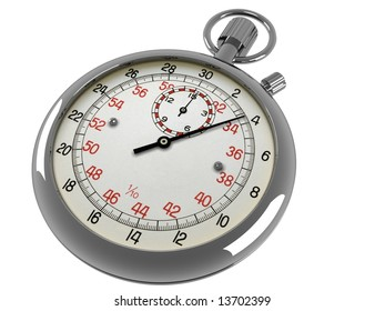 A stop watch on a white background