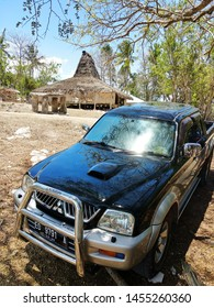 Stopped at a stage house in the east Sumba tribe. In sumba island, 27 October 2017