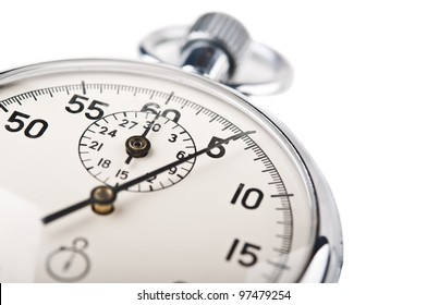 stopwatch clock isolated on a white background